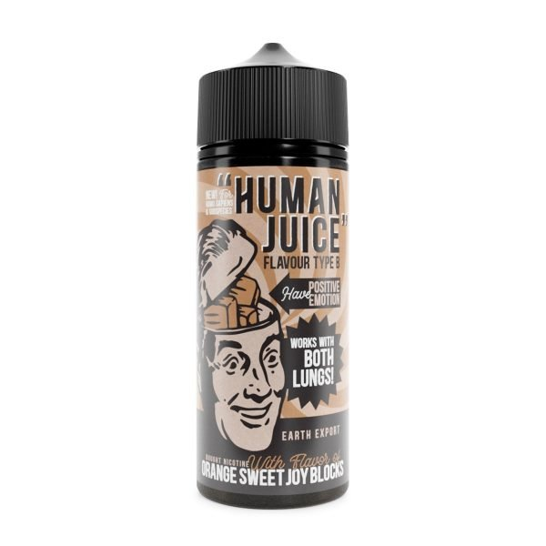 Human juice orange sweets 100ml shortfill
